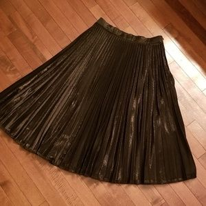 Le Lis Maxi Pleated Skirt Size Small